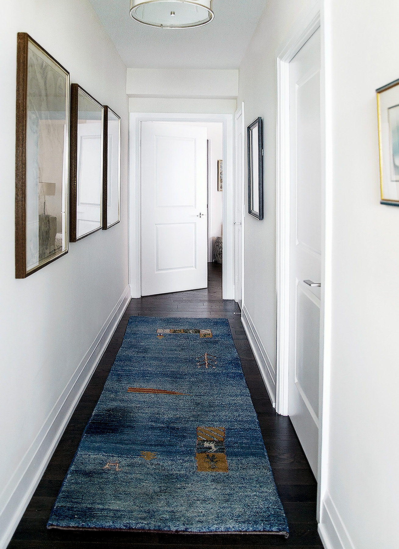 homefront redesigns project Old Mill Condo hallway, Kingsway