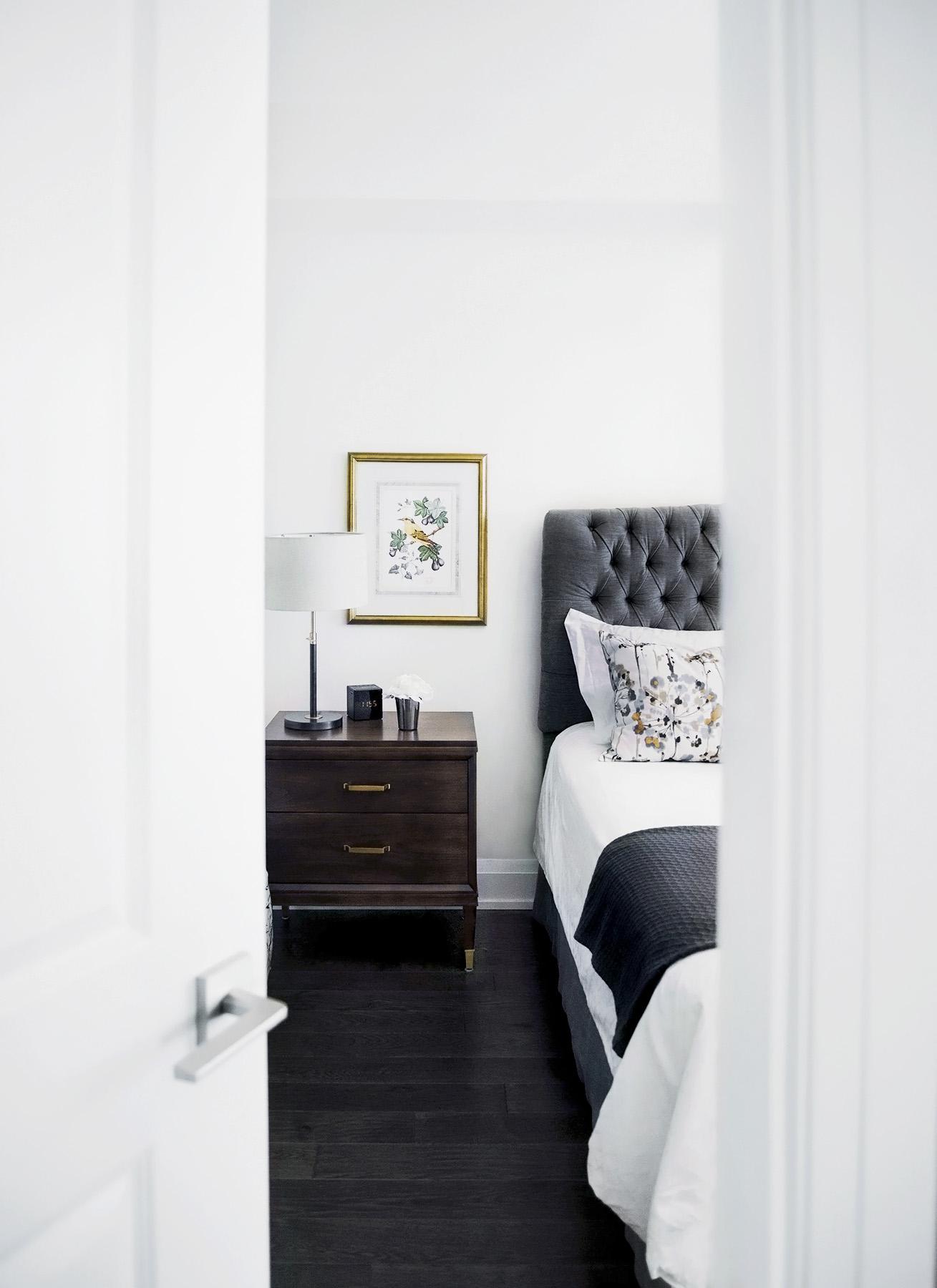 Master bedroom doorway in Old Mill condo in the Kingsway