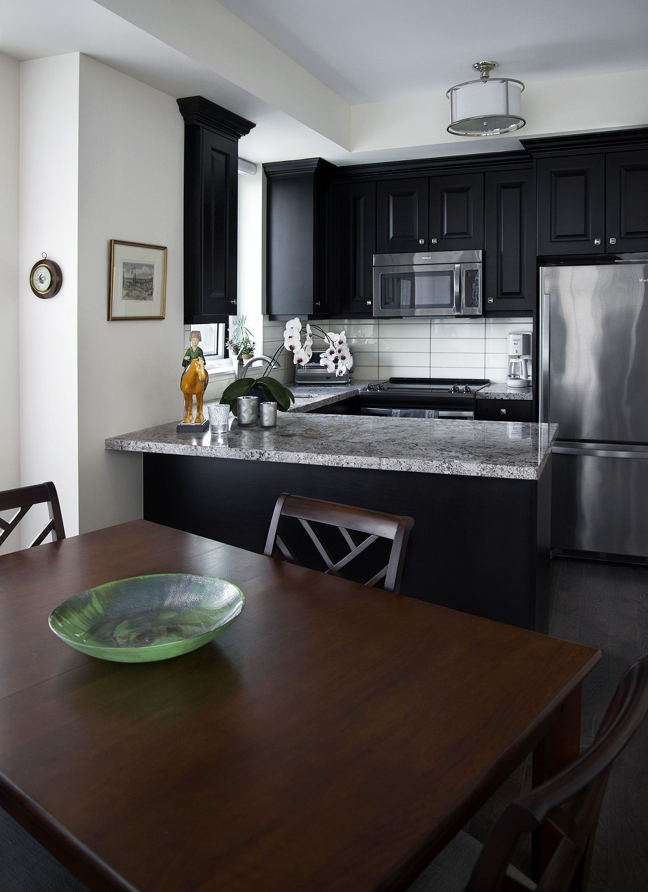 homefront redesigns project Old Mill Condo kitchen, Kingsway