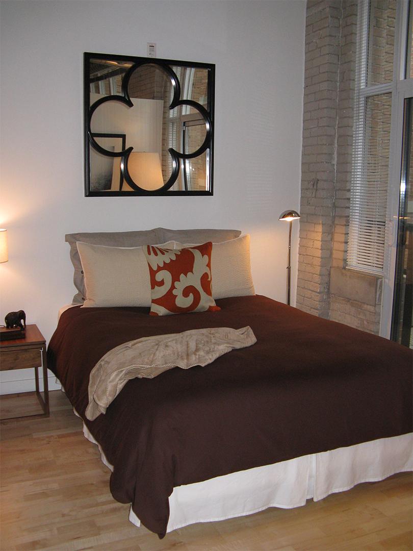 homefront redesigns project Queen Street Loft, Toronto, bedroom