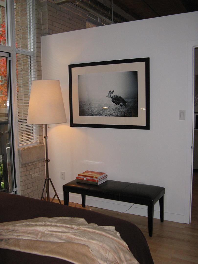 homefront redesigns project Queen Street Loft bedroom, Toronto