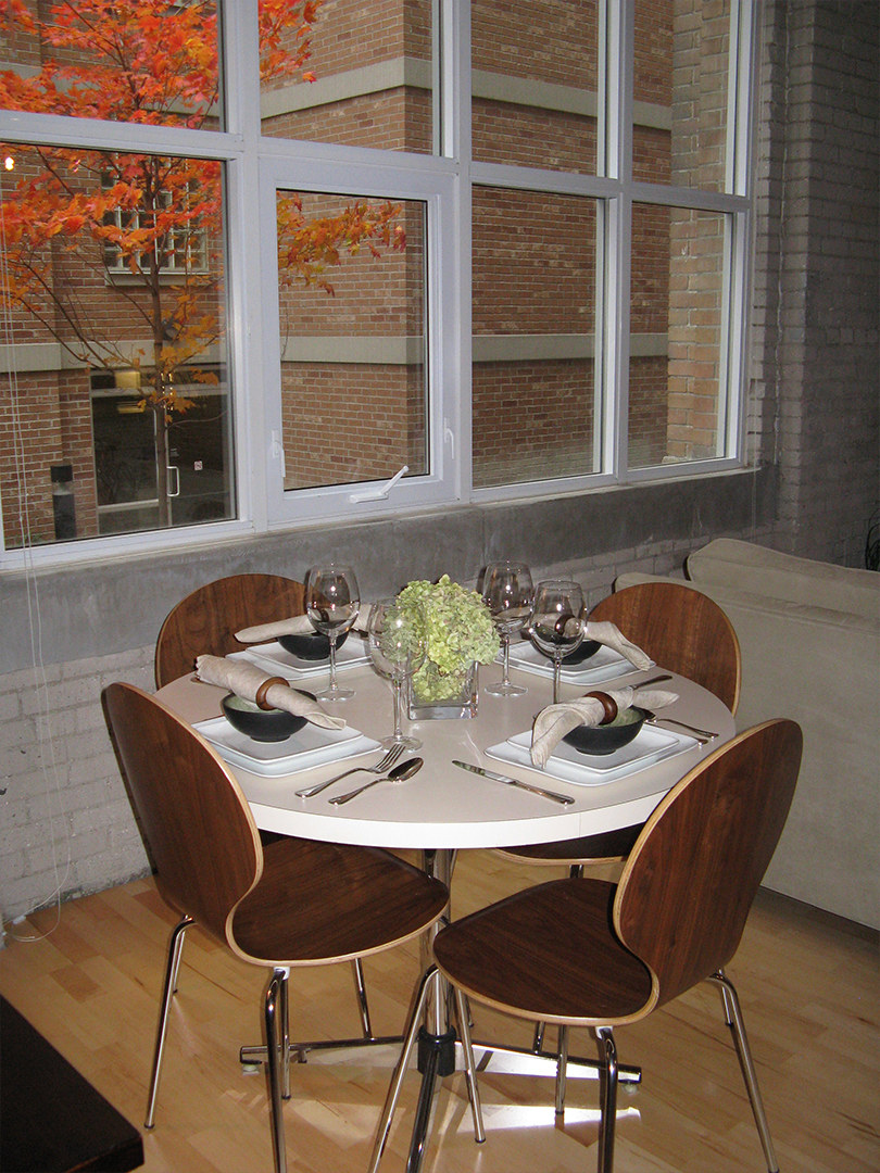 homefront redesigns project Queen Street Loft, Toronto, dining table