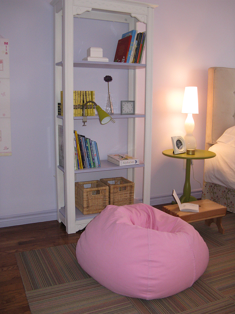 homefront redesigns project Beresford Avenue, Bloor West Village Tween bedroom bean bag chair