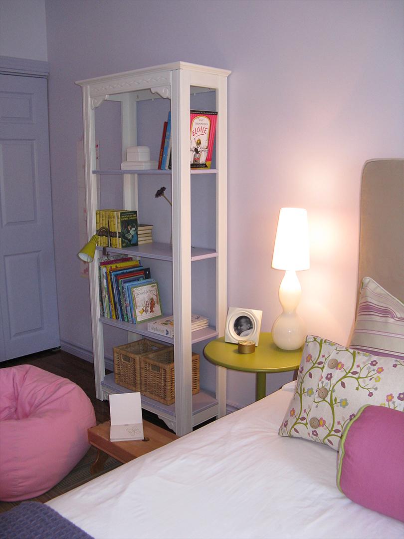 homefront redesigns project Beresford Avenue, Bloor West Village Tween bedroom shelf