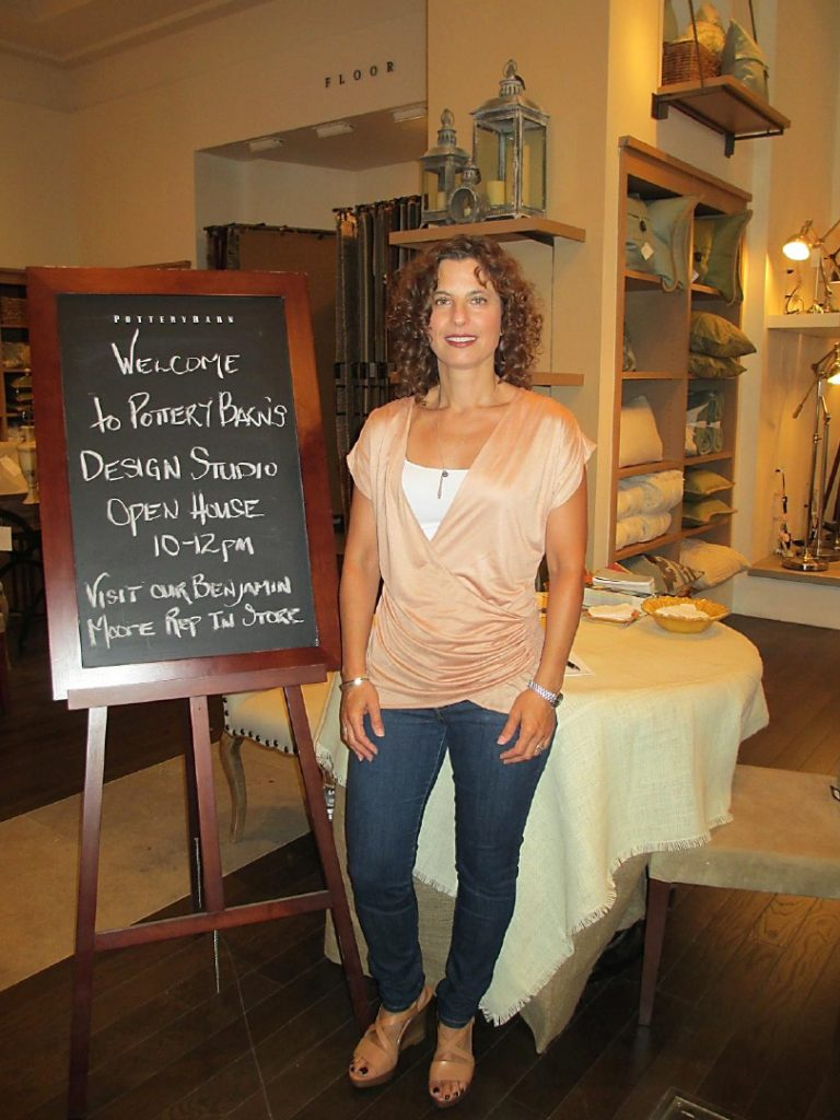 Dianne Amaral-Medeiros at Pottery Barn Design Studio Open House