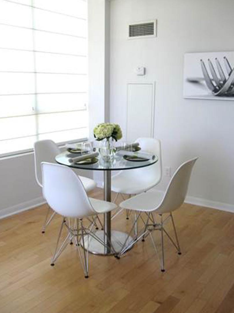 homefront redesigns project Islington Condo in Etobicoke, Toronto, kitchen table