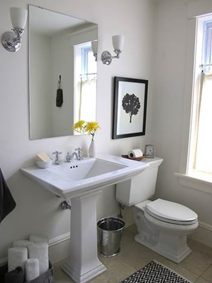 Bathroom in modern home on Durie St. in Bloor West Village