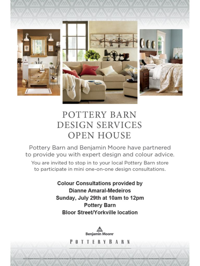 Pottery Barn Design Services Open House poster