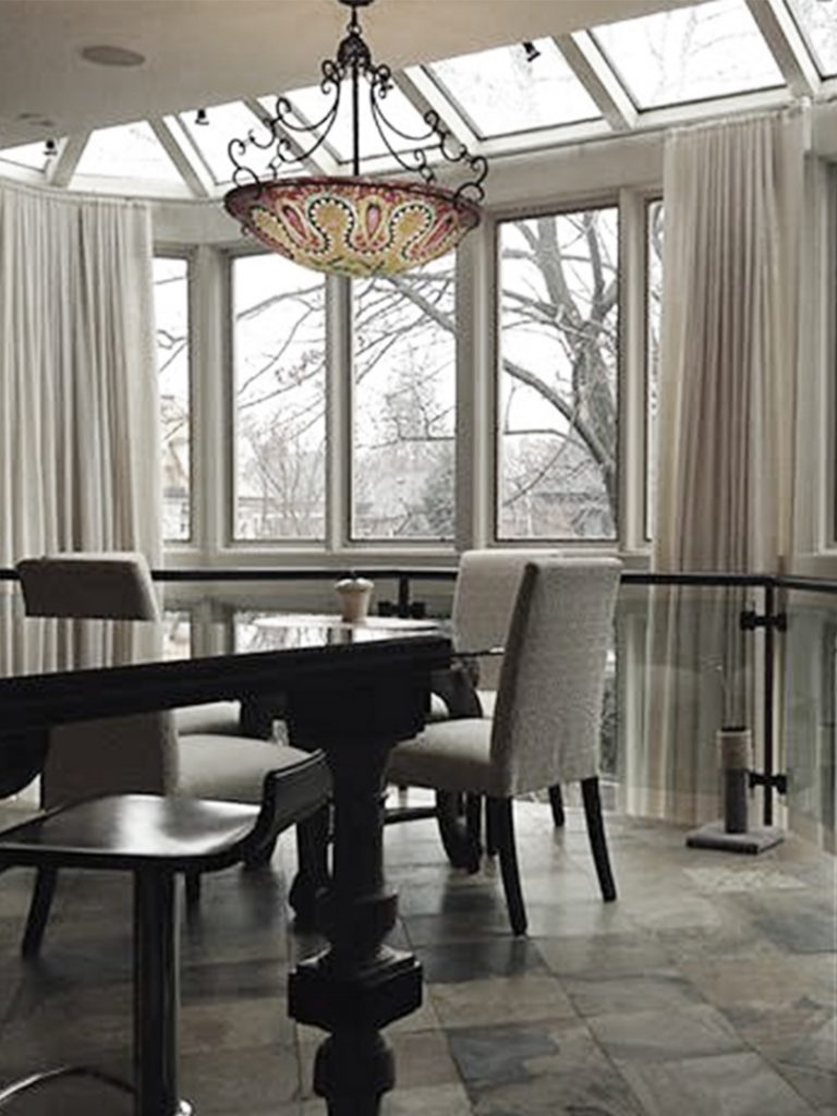 homefront redesigns project Vista Drive dining room with view, Vista Heights, Mississauga, Toronto