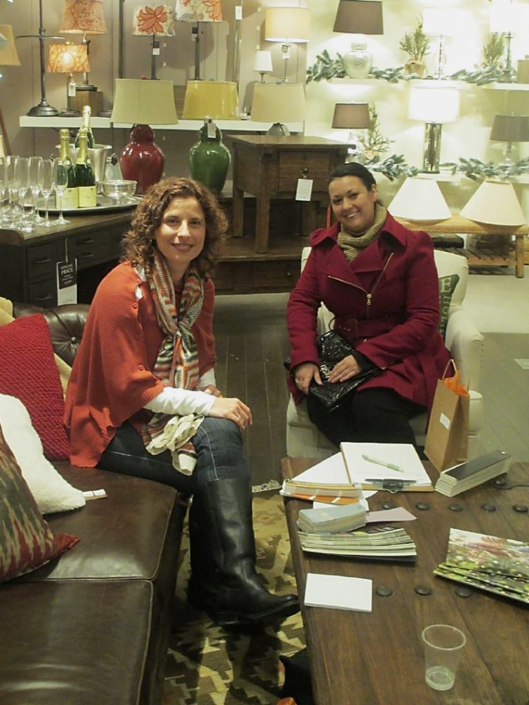 Dianne Amaral-Medeiros w/customer at Pottery Barn Customer Appreciation event
