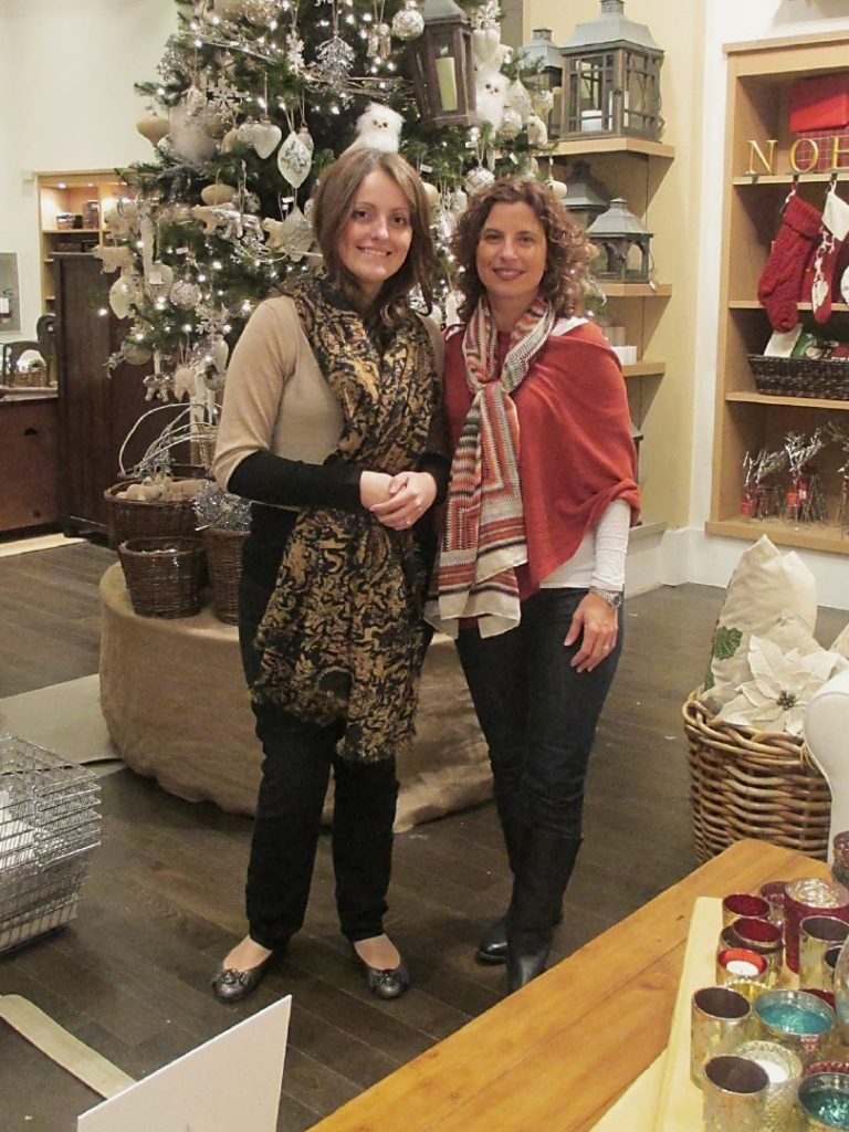 Dianne Amaral-Medeiros with customer #2 at Pottery Barn Customer Appreciation event