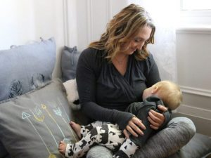 Toronto Star nursery article photo of mom and son
